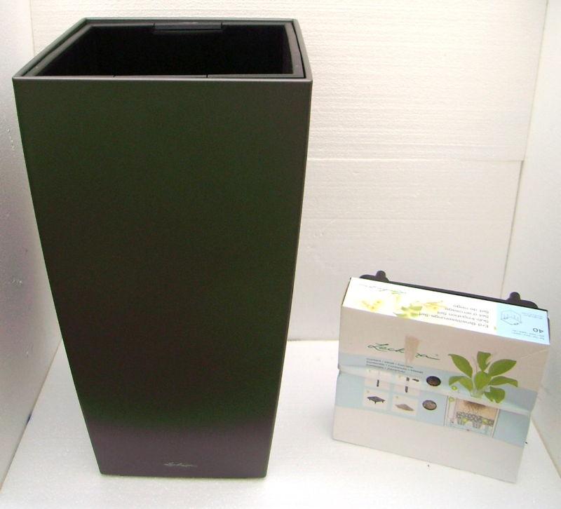semi hydro lechuza cubico 40 premium anthrazit set hydrozentrum. Black Bedroom Furniture Sets. Home Design Ideas